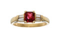 Estate Jewelry:Rings, Spinel, Diamond, Gold Ring The ring centers a ...