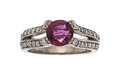 Estate Jewelry:Rings, Ruby, Diamond, White Gold Ring  The ring featu...