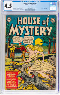 House of Mystery #1 (DC, 1952) CGC VG+ 4.5 Off-white to white pages