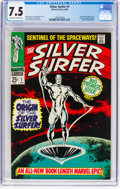 Silver Age (1956-1969):Superhero, The Silver Surfer #1 (Marvel, 1968) CGC VF- 7.5 Off-white to white pages....