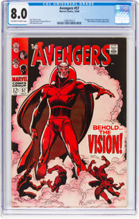 The Avengers #57 (Marvel, 1968) CGC VF 8.0 Off-white to white pages