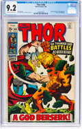 Silver Age (1956-1969):Superhero, Thor #166 (Marvel, 1969) CGC NM- 9.2 Off-white to white pages....