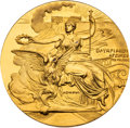 Olympic Collectibles:Autographs, 1896 Athens Summer Olympics Gold Participation Medal. ...