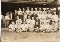 "1909 Philadelphia Athletics Team Photograph with Rookie-Era ""Shoeless Joe"" Jackson, PSA/DNA Type 1"