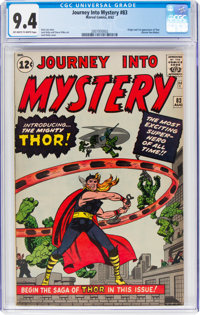 Journey Into Mystery #83 (Marvel, 1962) CGC NM 9.4 Off-white to white pages