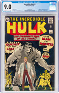 Silver Age (1956-1969):Superhero, The Incredible Hulk #1 (Marvel, 1962) CGC VF/NM 9.0 Off-white to white pages....