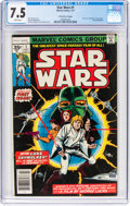 Bronze Age (1970-1979):Science Fiction, Star Wars #1 35¢ Price Variant (Marvel, 1977) CGC VF- 7.5 White pages....