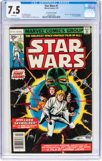 Star Wars #1 35¢ Price Variant (Marvel, 1977) CGC VF- 7.5 White pages