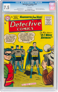 Detective Comics #225 (DC, 1955) CGC VF- 7.5 White pages