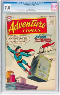 Adventure Comics #210 (DC, 1955) CGC FN/VF 7.0 Off-white to white pages