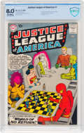Silver Age (1956-1969):Superhero, Justice League of America #1 (DC, 1960) CBCS VF 8.0 Off-whitepages....