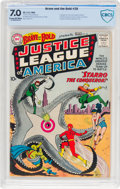 Silver Age (1956-1969):Superhero, The Brave and the Bold #28 Justice League of America (DC, 1960)CBCS FN/VF 7.0 Cream to off-white pages....