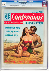 Confessions Illustrated #2 Gaines File Pedigree 8/11 (EC, 1956) CGC NM+ 9.6 Cream to off-white pages