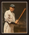 Baseball Collectibles:Others, Babe Ruth Original Painting by Ron Stark....
