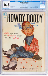 Howdy Doody #1 File Copy (Dell, 1950) CGC FN+ 6.5 Off-white pages