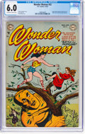 Golden Age (1938-1955):Superhero, Wonder Woman #52 (DC, 1952) CGC FN 6.0 Off-white to white pages....