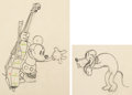 Animation Art:Production Drawing, Mickey's Good Deed Mickey Mouse and Pluto Animation Drawing Group of 2 (Walt Disney, 1932).... (Total: 2 Movie Posters)
