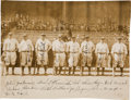 Baseball Collectibles:Photos, 1927 New York Yankees Team Signed Photograph....