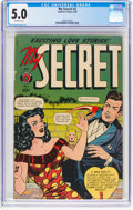 Golden Age (1938-1955):Romance, My Secret #2 (Superior Comics, 1949) CGC VG/FN 5.0 Off-whitepages....