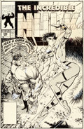 Original Comic Art:Covers, Dale Keown Incredible Hulk #386 Cover Original Art (Marvel,1991)....