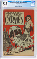 Golden Age (1938-1955):Miscellaneous, Illustrated Stories of the Operas #nn Carmen (Baily Publication, 1944) CGC FN- 5.5 Off-white to white pages....