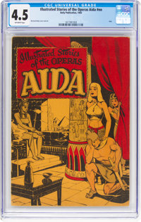 Illustrated Stories of the Operas #nn Aida (Baily Publication, 1943) CGC VG+ 4.5 Off-white pages