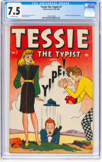 Tessie the Typist #7 (Timely/Marvel, 1946) CGC VF- 7.5 Off-white pages