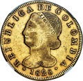 Colombia, Colombia: Republic gold 8 Escudos 1828 POPAYAN-FM XF45 NGC,...