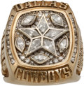 Football Collectibles:Others, 1995 Dallas Cowboys Super Bowl XXX Championship Ring Presented to Running Back Dominique Ross....