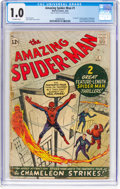 Silver Age (1956-1969):Superhero, The Amazing Spider-Man #1 (Marvel, 1963) CGC FR 1.0 Off-white pages....