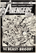 Original Comic Art:Covers, John Buscema and Jim Mooney Avengers #105 Cover BlackPanther Original Art (Marvel, 1972)....