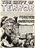 "Original Comic Art:Complete Story, Jack Davis Tales from the Crypt #44 Complete 8-Page Story ""Forever Ambergris"" Original Art (EC, 1954).... (Total: 8 Original Art)"