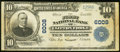 National Bank Notes:Virginia, Clifton Forge, VA - $10 1902 Plain Back Fr. 634 The First NB Ch. #6008 Very Fine.. ...