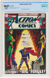 Action Comics #375 (DC, 1969) CBCS VF/NM 9.0 White pages