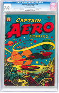 Golden Age (1938-1955):Science Fiction, Captain Aero Comics #26 (Continental, 1946) CGC FN/VF 7.0 Cream to off-white pages....