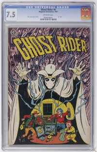 Ghost Rider #6 (Magazine Enterprises, 1951) CGC VF- 7.5 Off-white pages