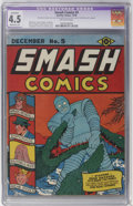 Golden Age (1938-1955):Superhero, Smash Comics #5 (Quality, 1939) CGC Apparent VG+ 4.5 Moderate (P)Off-white pages....