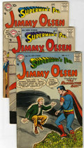 Silver Age (1956-1969):Superhero, Superman's Pal Jimmy Olsen Group (DC, 1956-58) Condition: Average VG/FN.... (Total: 5)