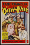 "Movie Posters:Western, The Outlaw Tamer (Empire Films, 1935). One Sheet (27"" X 41"").Western. Starring Lane Chandler, Janet Morgan, Benny Corbett, ..."