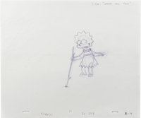 """""""The Simpsons"""" - Homer, Marge, and Lisa Simpson, Nelson Muntz, and Principal Skinner Animation Drawing Origina..."""