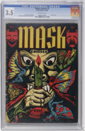 Golden Age (1938-1955):Horror, Mask Comics #1 (Rural Home, 1945) CGC VG- 3.5 Off-white pages....