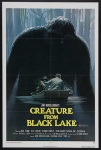 "Creature from Black Lake (Howco, 1976). One Sheet (27"" X 41""). Horror Mystery. Starring Jack Elam, Dub Taylor..."