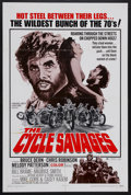 "Movie Posters:Action, The Cycle Savages (Trans American, 1970). One Sheet (27"" X 41""). Biker Action. Starring Bruce Dern, Chris Robinson, Melody P..."