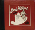 """Music Memorabilia:Recordings, """"Hank Williams Sings"""" 78 Album (MGM 107, 1952). Before there wereLP albums, 'album' meant a collection of 78 singles packag...(Total: 4 Items)"""