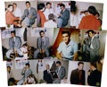 Music Memorabilia:Photos, Elvis Presley Set of Rare Backstage Photos From 1957. One of onlytwo set of these photos printed, this set of rare color 16...