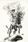Original Comic Art:Splash Pages, Gil Kane - Blackmark Pin-Up Original Art (undated). Gil Kane'sBlackmark sits tall in the saddle, ready for battle. Blackm...