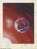 Original Comic Art:Covers, Gray Morrow - IF SF Digest Cover Original Art, dated November, 1965(Galaxy, 1965). Gray Morrow painted this spartan SF spac...
