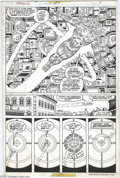 Original Comic Art:Panel Pages, George Perez and Joe Sinnott - Fantastic Four #184, page 7 OriginalArt (Marvel, 1977). A stunning page by a true master of ...