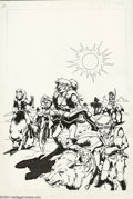 Original Comic Art:Covers, Wendy Pini - Elfquest #2 Cover Original Art (Marvel, 1985). In1985, Warp Graphics and Marvel Comics teamed up to produce th...