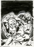Original Comic Art:Covers, Wendy Pini - Elfquest #9 Cover Original Art (Marvel, 1986).Strongbow challenges Cutter, and the fur is flying! Created by W...